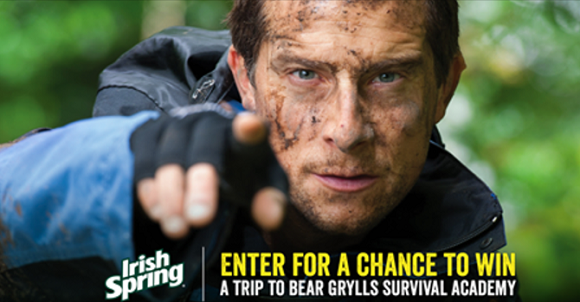 Enter for your chance to win a trip for two to a Bear Grylls Survival Camp in upstate New York. Enter online or text to enter daily