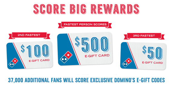 Win Free Domino's Gift Cards from Quickly