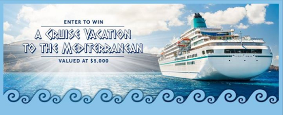 Enter the Wave of Flavor Sweepstakes for your chance to win a Cruise Vacation to the Mediterranean!