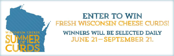 Through the end of summer, Wisconsin Cheese will be giving away a pound of fresh, squeaky Wisconsin cheese curds every day.