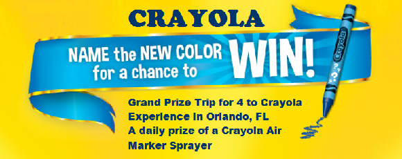 Name the new Crayola color for your chance to win a trip for 4 to the Crayola Experience in Orlando, Florida
