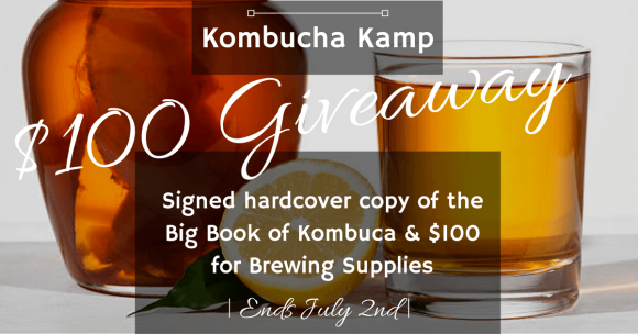 Click Here for your chance to win a $100 Kombucha Kamp brewing supplies gift certificate and a signed hardcopy of The Big Book of Kombucha for U.S. residents or a $135 gift certificate for brewing supplies if you live outside of the U.S.