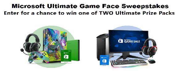 Share your #UltimateGameFace for a chance to win the ultimate setup. Microsoft is giving away TWO ultimate gamer prize packages worth over $3,300 and $4,500!