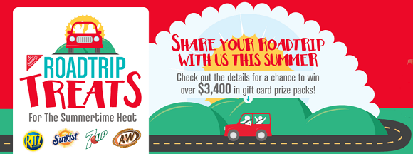 Share a U.S. City and State that is a road trip destination for your family this summer to enter for your chance to win over $3,400 in prizes