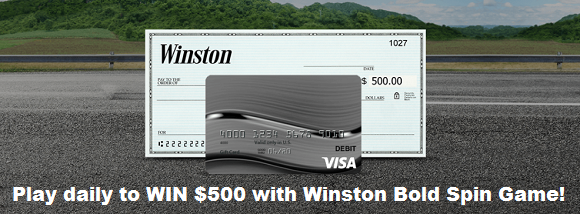 Play the Winston Bold Spin Instant Win Game daily for your chance to win $500 in cash!