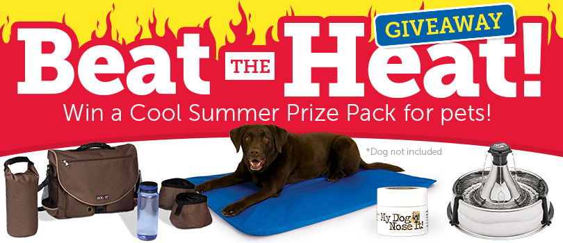 1-800-PetMeds is giving away three prize packages sure to help your pet breeze through the summer in style!