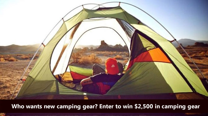Enter for a chance to win all the camp swag you will ever need to rock your family's summer camping trip worth $2500.