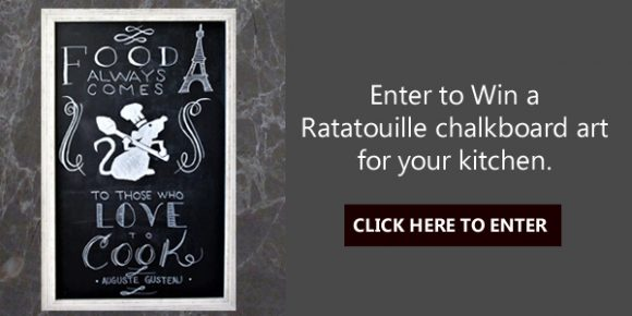Enter for your chance to win a mini Ratatouille chalkboard art for your kitchen