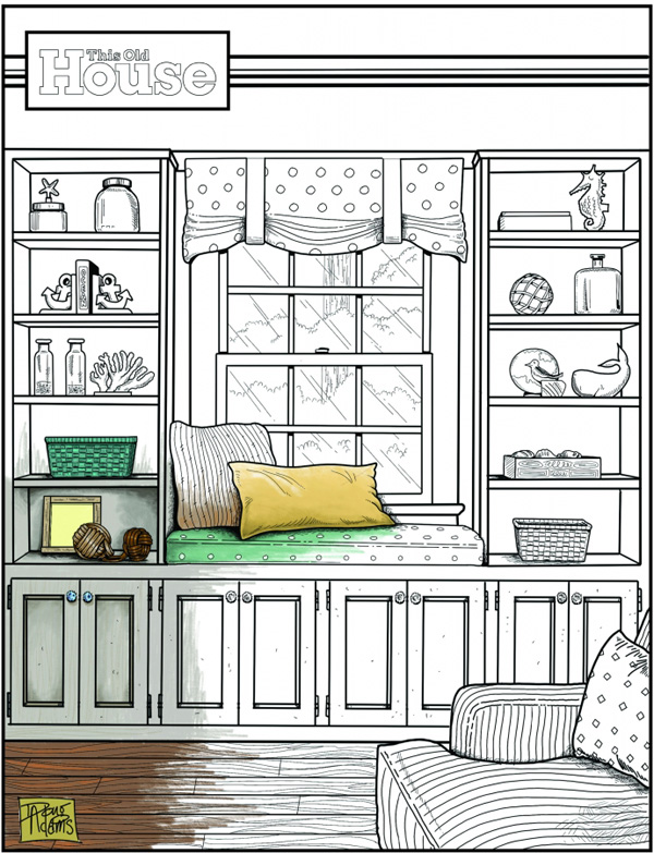 This Old House Coloring Contest. The grand-prize winner will receive a $500 cash prize and a $200 gift card from Sherwin-Williams. Three runners up will receive a $100 gift card each