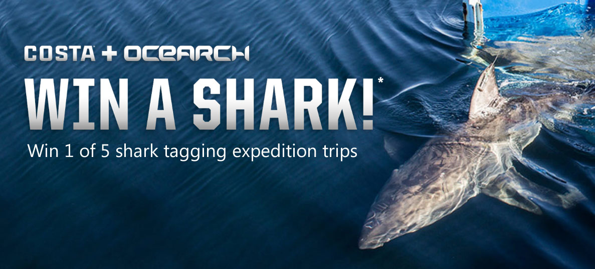 Enter for a chance to see OCEARCH catch, tag, and release sharks aboard the M/V OCEARCH research vessel. You'll get to name a shark, and help the Costa + OCEARCH mission to protect what's out there.