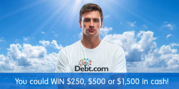 Click Here for your chance to win $250, $500 or $1,500 in cash in the Debt.com Summer Cash Splash Sweepstakes.