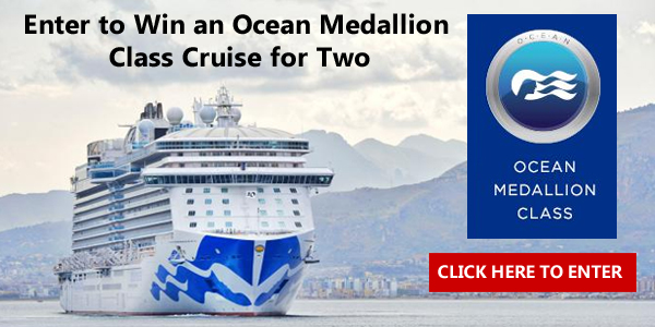 Enter for your chance to win a cruise for two in a balcony stateroom onboard Regal Princess sailing November 15, 2017. Be the first to experience the next wave in vacation travel.
