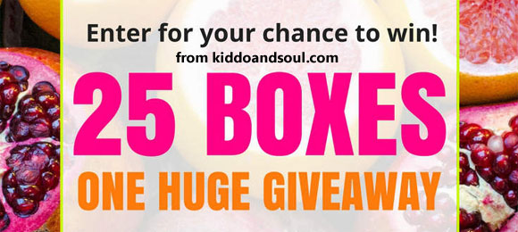 Click Here for your chance to win one of 25 Subscription Boxes from Kiddoandsoul.com