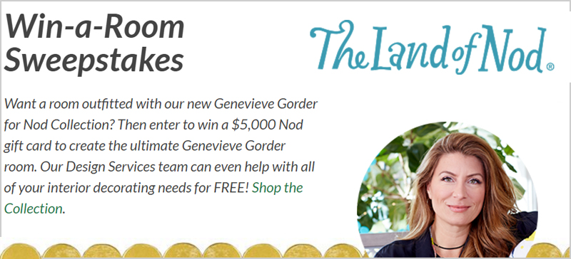 Land Of Nod Win-a-Room $5,000 Sweepstakes
