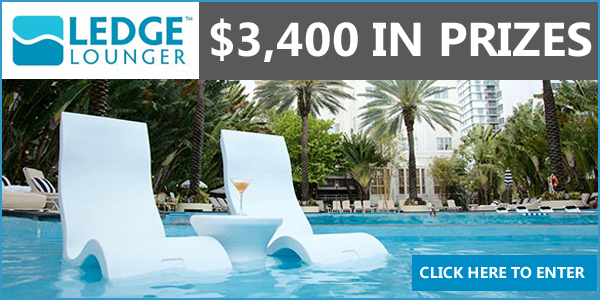 OnTheHouse.com and Ledge Lounger are giving away AWESOME Pool-side prize. Enter Here for your chance to win prize valued at over $3,400 guaranteed to help you enjoy life on the ledge in water, in style.
