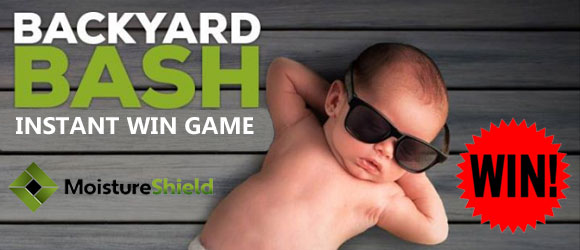 To celebrate MoistureShield's new CoolDeck® technology keeping you cool on your deck throughout the summer, they are giving away various gift cards to help you purchase items to throw your own Backyard Bash. Remember, you can enter each day until July 12th.