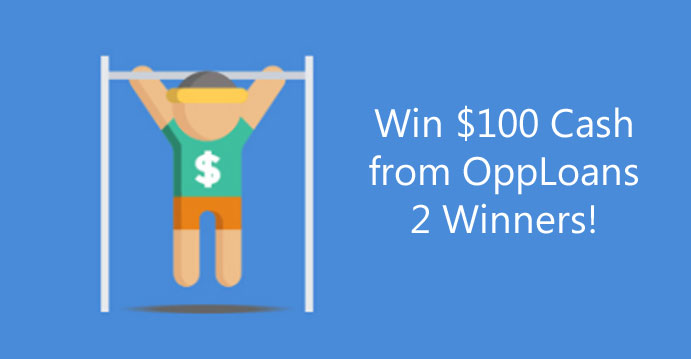 Enter to win $100 cash from OppLoans #CreditFitness Cash Giveaway