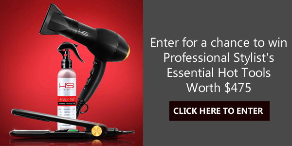 Enter for a chance to win Professional Stylist's Essential Hot Tools: a flat iron and a blow dryer, with thermal protector spray for good measure. Total package value $475