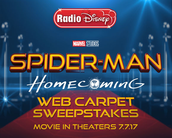 Radio Disney Spider-Man Homecoming Web Carpet Sweepstakes Code