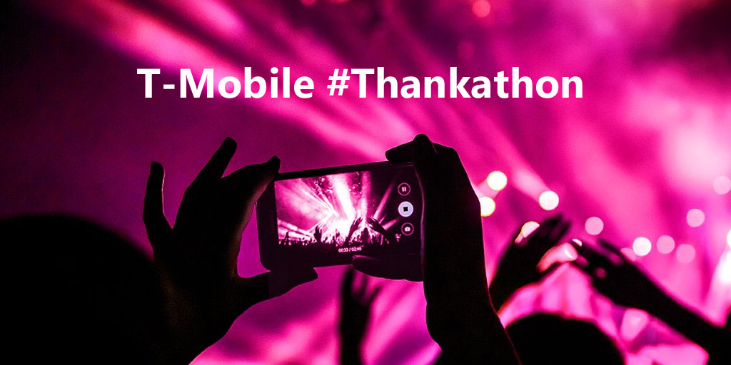 T-Mobile is hosting a 12-hour #thankathon on June 6th with hourly prizes, like free gas for a year, a whole year of free movie tickets and a trip for four to any event you like at T-Mobile Arena this year.Everyone can experience what it's like to #GetThanked during a special 12-hour.
