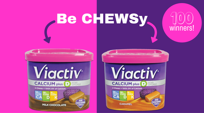 Enter to win a free canister ofViactiv Calcium Soft Chews. #BeChewsy