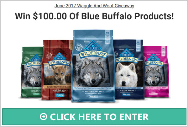 Waggle And Woof is giving away$100 worth of Blue Buffalo dog food. Blue Buffalo offers your pet the wholesome nutrition to support a healthy lifestyle for any breed at any age.