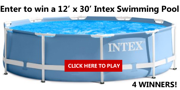 Shop Your Way is giving away a 12' x 30' Intex Swimming Pool to FOUR WINNERS! Click Here for your chance to win