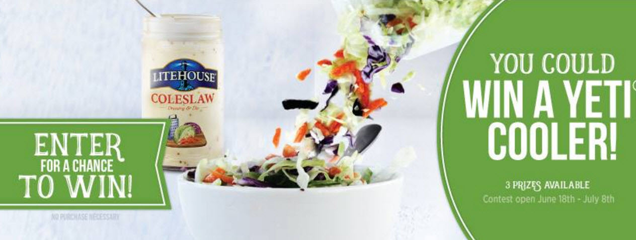 Enter the Coleslaw Cravings Sweepstakes for a chance to win one of 3 Yeti Coolers!