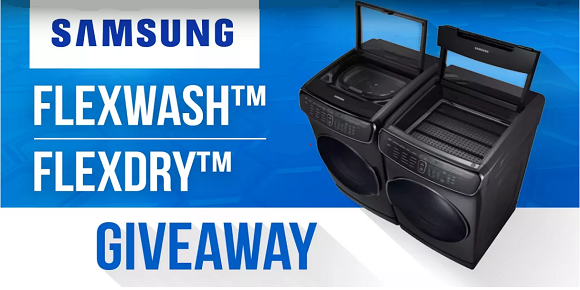 Enter for your chance to revamp your laundry space with Samsung a FlexWash and FlexDr washer and dryer.
