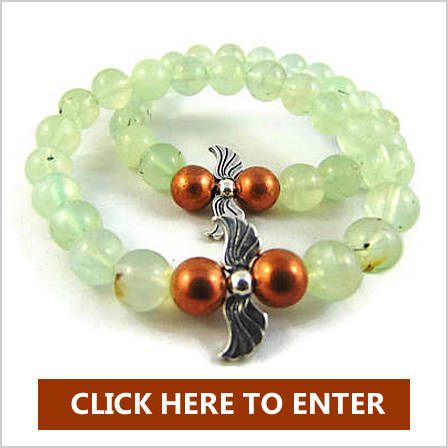 Enter to win an Archangel Raphael Sterling Silver and Copper Bracelet in Prehnite and an Archangel Raphael Healing Oracle Card Deck worth $70 The combination of the gemstones unique qualities and the infusion of the the individual Archangel energy makes this jewelry a special addition to your journey with the Angels.