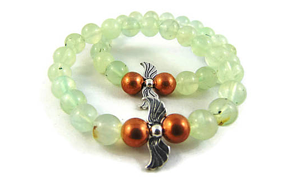 Enter to win an Archangel Raphael Sterling Silver and Copper Bracelet in Prehnite and an Archangel Raphael Healing Oracle Card Deck