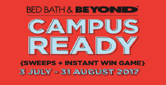 Bed Bath & Beyond Campus Ready Instant Win Game