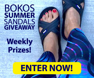 Enter the Bokos Summer Sandals Giveaway to win a sweet pair of Bokos Sandals!  Giving away a pair a week ALL summer! Enter Daily!