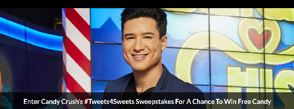 Enter Candy's Crush's #Tweets4Sweets Sweepstakes for your chance to win $50 in FREE Candy - HURRY this is QUICK ENDING!