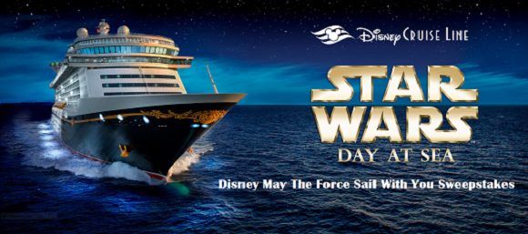 Disney Cruise Lines has gone Star Wars and you could win a 7-night cruise in the Disney May The Force Sail With You Sweepstakes