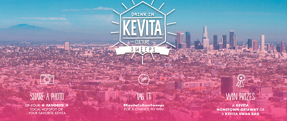 Drink in the local culture with the KeVita Culture Sweepstakes!You could win a chance to explore your city's culture with the KeVita Hometown Getaway, prize packs, and free KeVita.