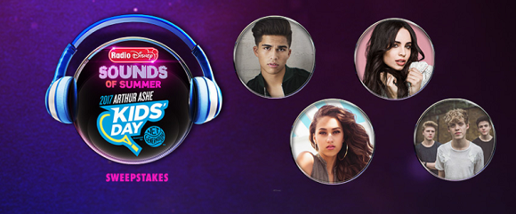 Radio Disney Sounds of Summer Arthur Ashe Kids Day Sweepstakes