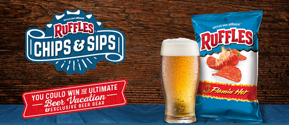 Every chip needs a sidekick! Pair Ruffles chips with your favorite beer and enterfor your chance to win awesome beer gear