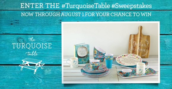 Tuesday Morning is so excited about the launch of the Kristen Schell - The Turquoise TableCollection coming to Tuesday Morning on July 30. To celebrate, 10 winners will be selected to win gift packages that include new products, a $25 gift card and a signed copy of Kristin's new book!Remember to check back through 8/1 for more chances to win!