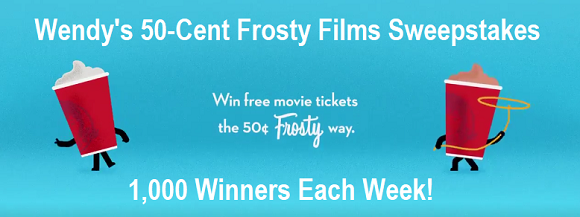 Post a photo of you with a Wendy's Frosty on Instagram or Twitter for a chance to win 1 of 1,000 weekly prizes