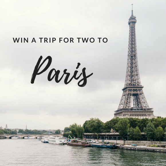 Enter for your chance to win atrip for two to Paris that includes$750 TripCash to a luxury hotel in Paris and a$1,950 credit towards airfare for two