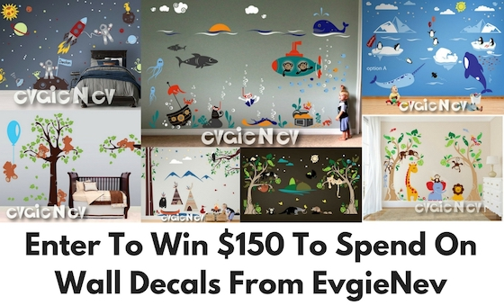 Enter for your chance to win $150 to spend on decorative wall decals from EvgieNev