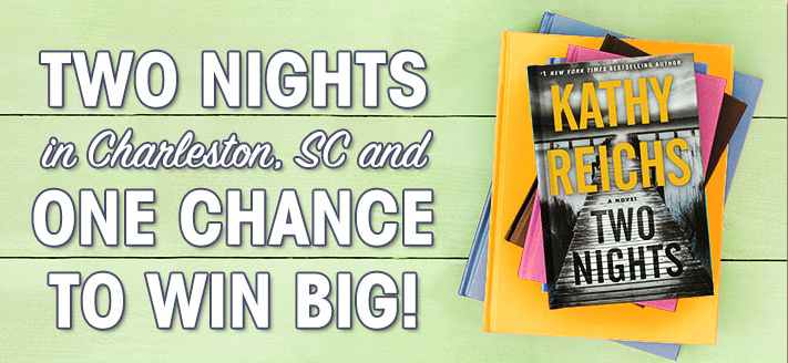 Looking for a summer escape? Love a good thrill? Join Random House in celebrating the release of Two Nights by #1 New York Times bestselling author Kathy Reichs! Enter for the chance to win a storied stay in Charleston, S.C., where the novel's mystery unfolds...