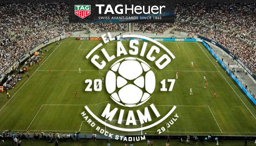 Enter the TAG Heuer El Clásico Sweepstakes for a chance to win a 2-night trip for two to Miami, Florida to see Real Madrid C.F. v. FC Barcelona.
