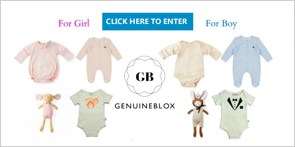 Did You Know a Significant Proportion of Materials Used for Baby Clothing Contain Harmful TOXINS? Enter to win 3 of GenuineBlox' Signature Prganic Onesies and an Organic Toy for your baby ($151)! Dress your baby toxic-free! Winner will get to choose between boy's set and girl's set!