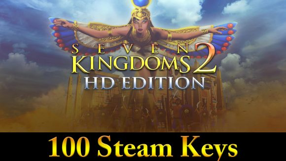Enter for your chance to win one of the 100 Steam Keys for Seven Kingdoms 2 HD, supplied by the people at Enlight Software.