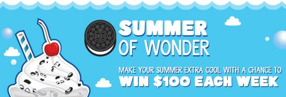 Make your summer extra cool with a chance to WIN $100 in cash every week until the end of July from Oreo #OREOMenchiesSweepstakes