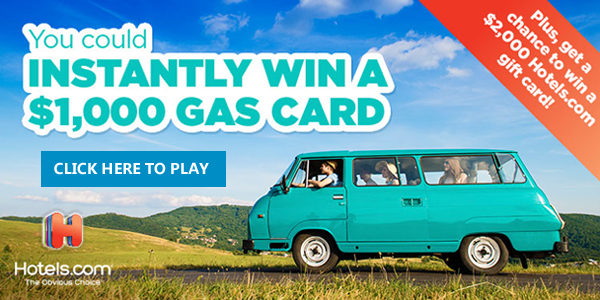 Enter for your chance to win a $1,000 Gasoline Gift Card or FREE Shop Your Way Points