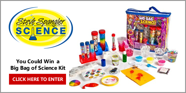 """You could win a Steve Spangling """"Big Bag Science Kit"""" and more in this week'sLands' End Love Learning Sweepstakes"""
