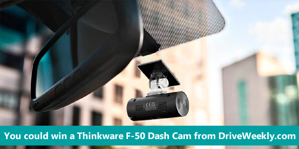 Enter for your chance to win a Thinkware F-50 Dash Cam from DriveWeekly.com. Protect yourself against scams and fraud while on the road with this powerful Thinkware F50 dash cam. With full high-definition and 30 fps recording, this cam lets you capture every detail of an incident with undeniable clarity. This Thinkware F50 dash cam uses format-free technology for a fast, intuitive user experience.